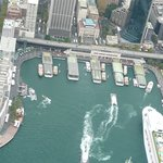 circular quay from helicopter