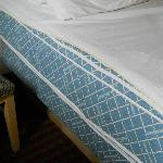Bottom sheet on mattress