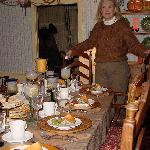  Cathy setting her table