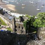 The sea front from the castle wall