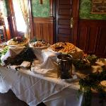appetizers in the formal dining room