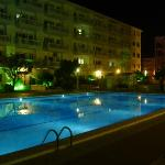 Europa Pool by night