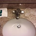  Notice the location of the faucet!