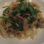 Pasta with duck breast
