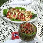 Great food ( cebiche) served lakeside