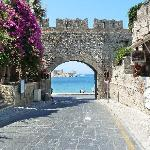 One of the beuatiful gated entrances to Rhodes old town.