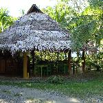 The palapa where we serve breakfast