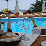  Meal beside the Pool