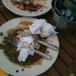  every table outside was covered in plates that had not been cleared - filthy and the staff that
