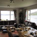 general lounge/dining area with loch views