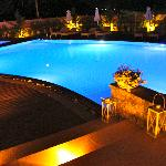 Communal pool at night!