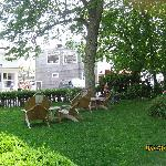 front lawn with chairs