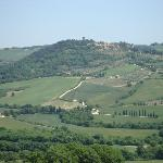 Monticchiello from a distance