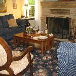 The Living Room where I spent one rainy evening reading and enjoying a glass of wine
