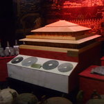 A model of the burial tomb of the Emperor