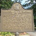  Bronze plaque summarizing cemetery history