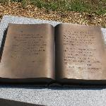 "Bronze ""open book"" engraved history (sample)"