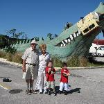 Giant Gator in front of the motel