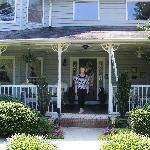 The Innkeeper, Karen, in front of the Inn