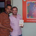 With Rana - the owner of the Youth Hostel Kolkata