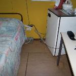 Room with hanging electrical cords