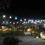 The resort at night