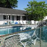  view of pool and motel