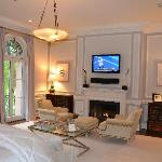  flat screen tv and fireplace in bedrooms