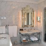  Marble bathroom with heated floors and steam shower