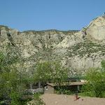  View of the Badlands from the room&#39;s balcony