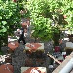 The Beer Garden below