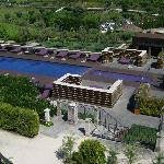 View of the hotel and pool