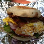 Breakfast Sandwich with Bacon - Scottish Bakehouse