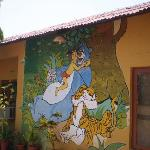 Characters of Jungle Book on their wall