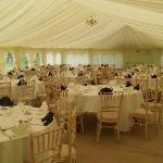  Table set out in marquee