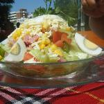  eating out typical salad 3 very large one