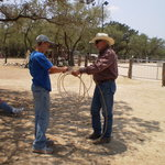 My son's roping lesson