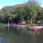 View of campground from fishing dock.
