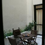  The courtyard as in a hotel website pic...
