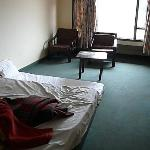  room (including mattress on dirty carpet, which we were charged for)