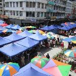 The market outside our hostel!