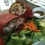  Thai chicken wrap. yum!