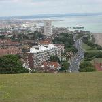 Looking down from  Beachy Head