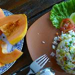  More breakfast, the papaya is mine, bought it at the market