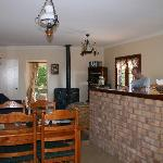 Gumnut Cottage living area & kitchen