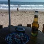 Beach, sea, ceviche and a beer, it can't get better than this ;)