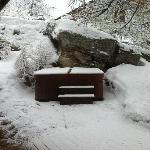 The hot tub in the snow
