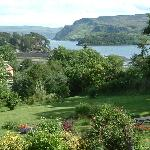 Enjoy the views over our front garden to Portree Bay, Ben Tianavaig and the Isle of Raasay