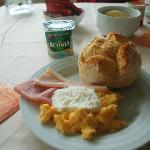 Hotel breakfast.  Pretty standard, but hight quality.