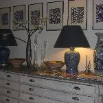 One of the many vignettes in the home, this is in the dining area